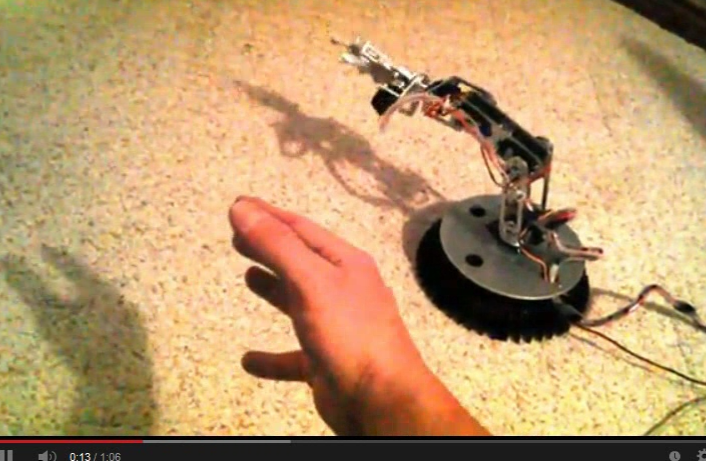 hand remotely controlling robot