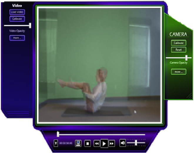 Yoga/Exercise Mirror Training Example
